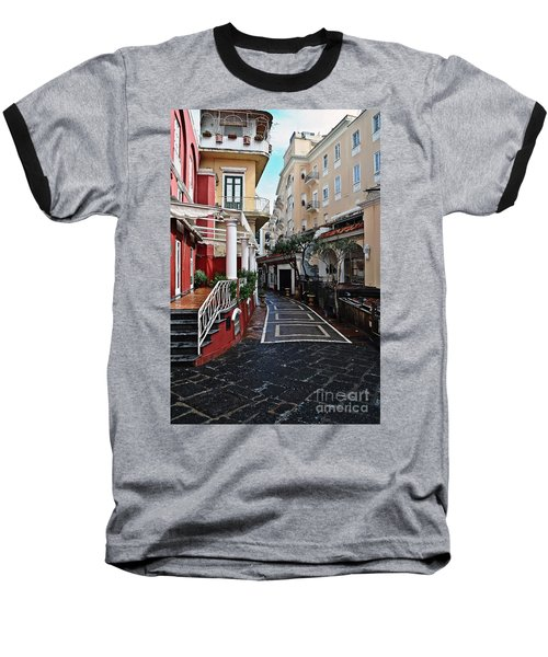 Street Of Capri Baseball T-Shirt