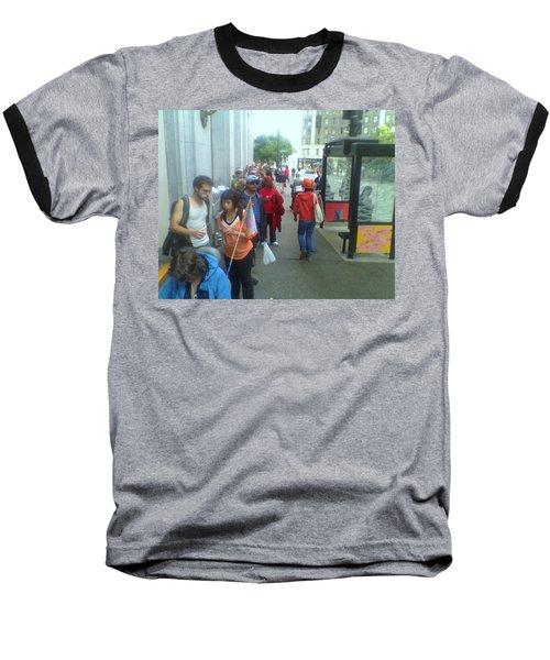 Street Scene Baseball T-Shirt by David Trotter