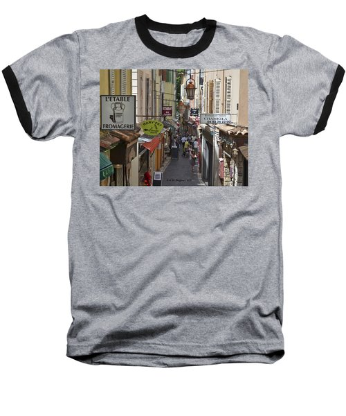 Baseball T-Shirt featuring the photograph Street Scene In Antibes by Allen Sheffield