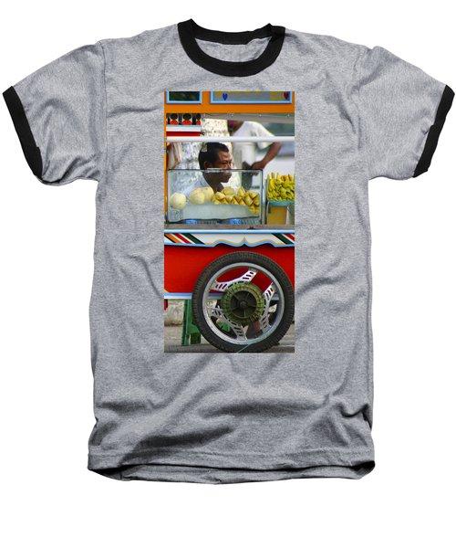 Street Seller Offering Fresh Fruit Yangon Myanmar Baseball T-Shirt