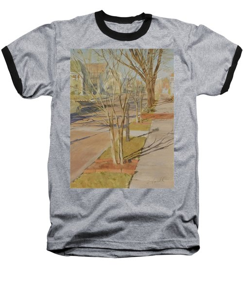Street Trees With Winter Shadows Baseball T-Shirt