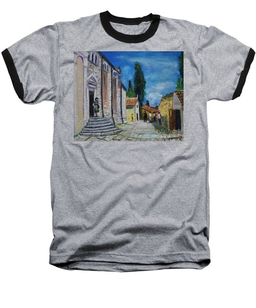 Street View In Rovinj Baseball T-Shirt
