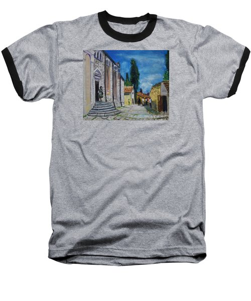 Street View In Rovinj Baseball T-Shirt