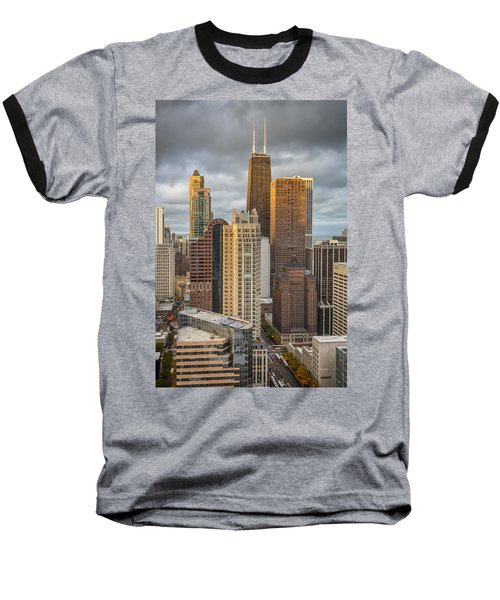 Streeterville From Above Baseball T-Shirt by Adam Romanowicz