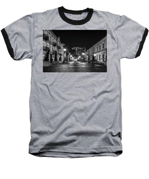 Streets Before Christmas Baseball T-Shirt