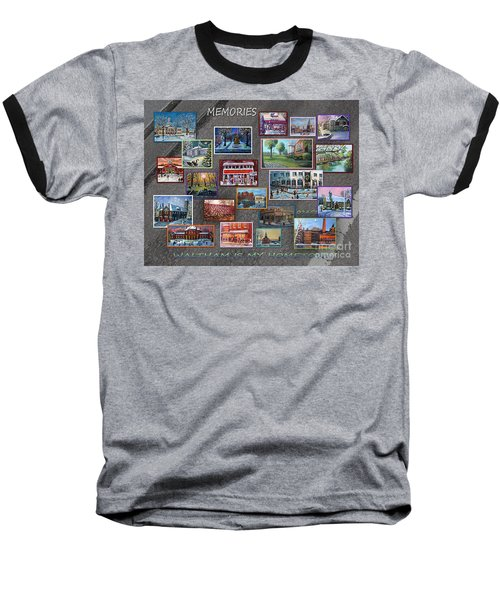 Streets Full Of Memories Baseball T-Shirt by Rita Brown