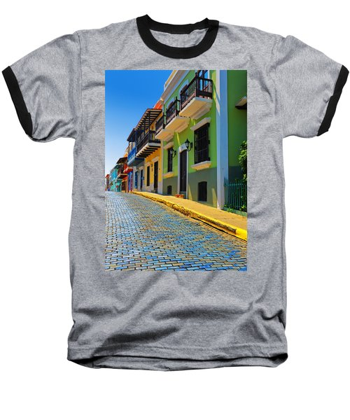 Streets Of Old San Juan Baseball T-Shirt by Stephen Anderson