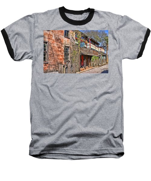 Baseball T-Shirt featuring the photograph Streets Of St Augustine Florida by Olga Hamilton