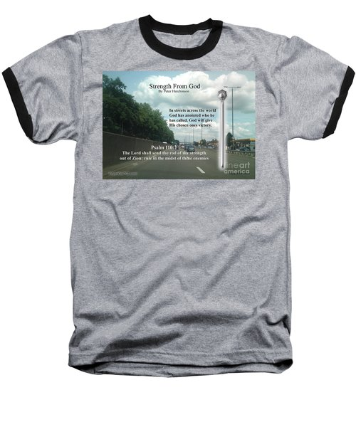 Strength From God Baseball T-Shirt