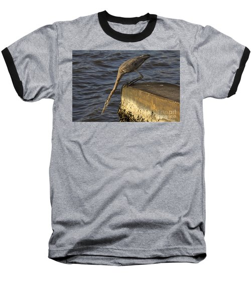 Baseball T-Shirt featuring the photograph Stretch - Great Blue Heron by Meg Rousher