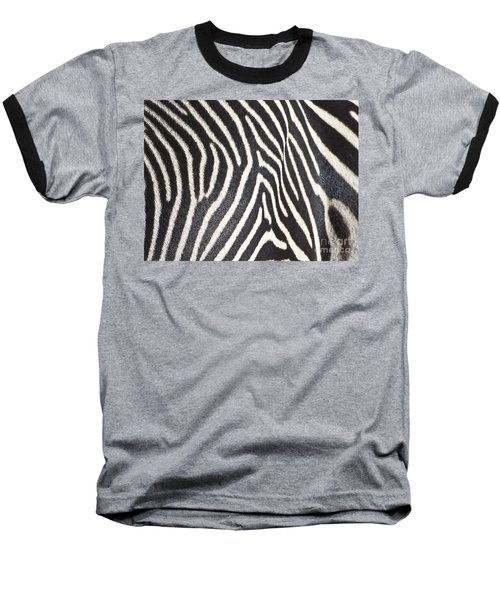 Stripes And Ripples Baseball T-Shirt by Kathy McClure