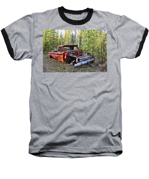 Baseball T-Shirt featuring the photograph Stripped Chevy by Cathy Mahnke