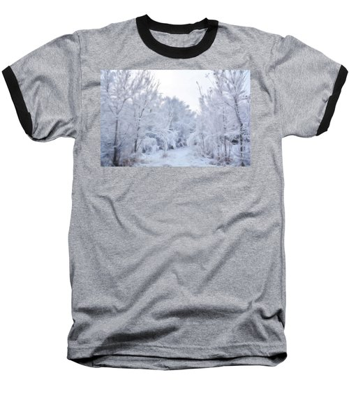 Stroll Through A Winter Wonderland Baseball T-Shirt by Diane Alexander