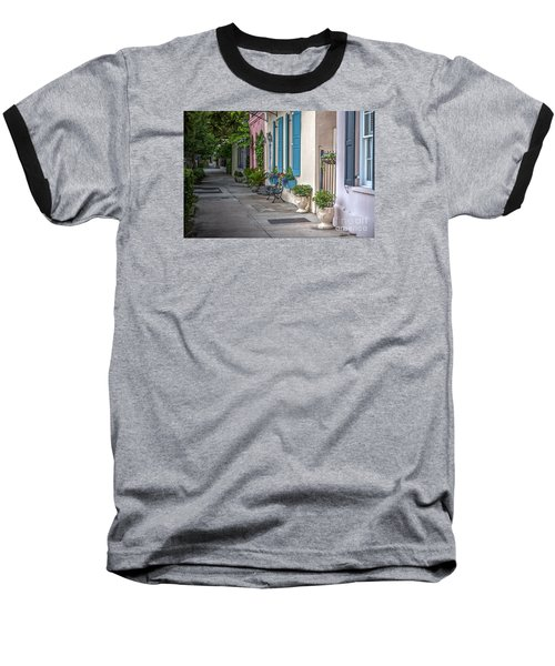 Strolling Down Rainbow Row Baseball T-Shirt