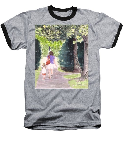 Strolling With Mom Baseball T-Shirt