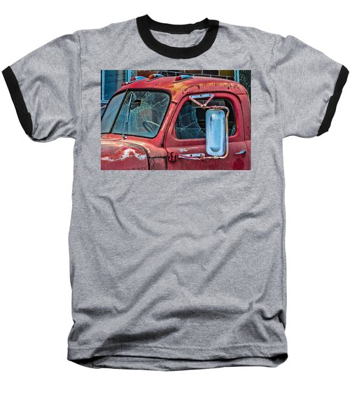 Baseball T-Shirt featuring the photograph Strong City Red by Steven Bateson