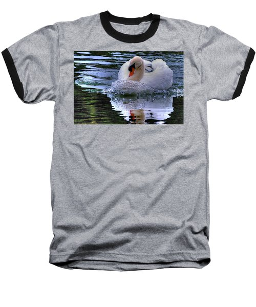 Strong Swimmer Baseball T-Shirt