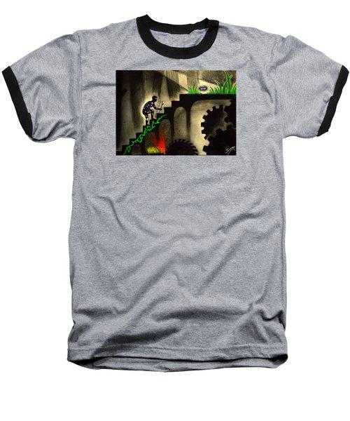 Life's Struggle Baseball T-Shirt by Salman Ravish