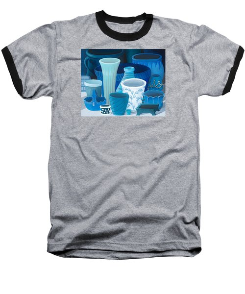Study In Blue Baseball T-Shirt by Katherine Young-Beck