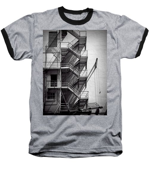 Study Of Lines And Shadows Baseball T-Shirt