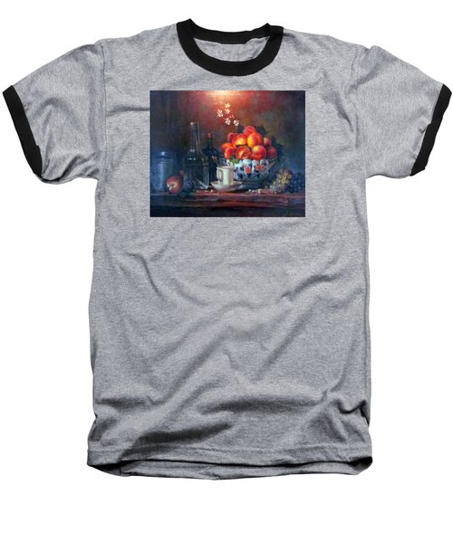 Baseball T-Shirt featuring the painting Study Of Peaches by Donna Tucker