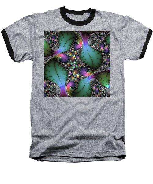 Stunning Mandelbrot Fractal Baseball T-Shirt