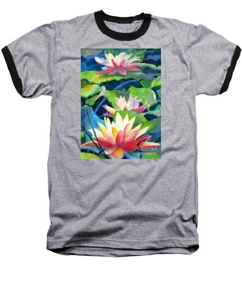 Styalized Lily Pads 3 Baseball T-Shirt
