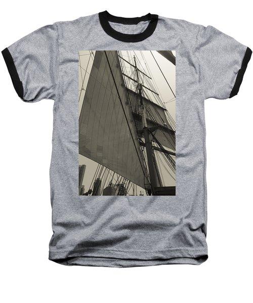 Suare And Triangle Black And White Sepia Baseball T-Shirt