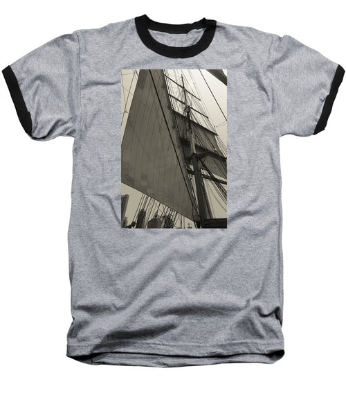 Suare And Triangle Black And White Sepia Baseball T-Shirt