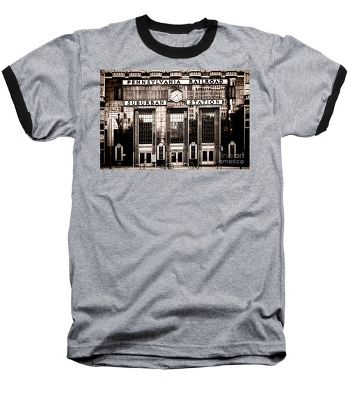 Suburban Station Baseball T-Shirt