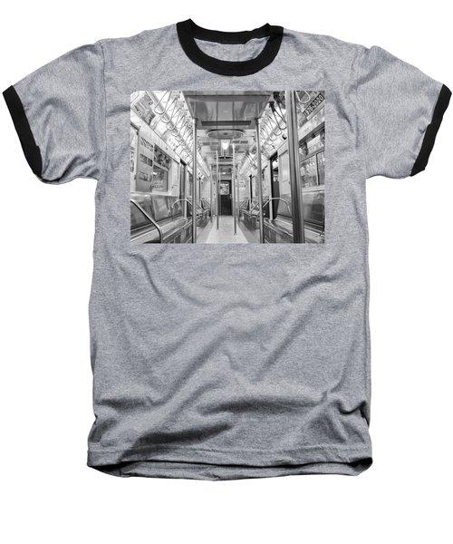New York City - Subway Car Baseball T-Shirt