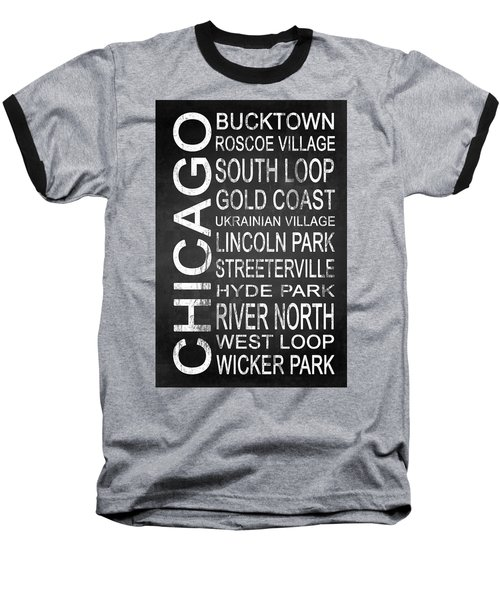 Subway Chicago 2 Baseball T-Shirt by Melissa Smith