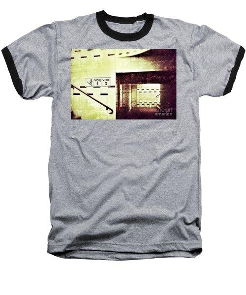 Subway  Baseball T-Shirt by Nick  Biemans