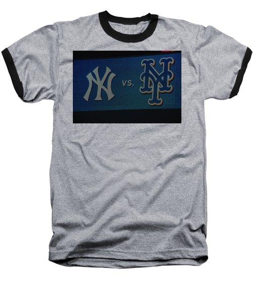 Subway Series Baseball T-Shirt by Richard Bryce and Family