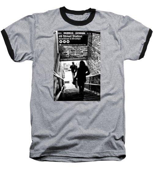 Subway Shadows Baseball T-Shirt