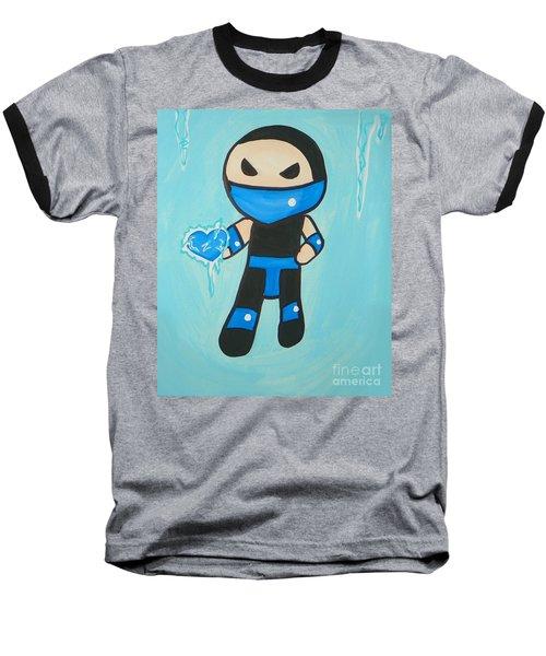 Subzero Frozen Heart Baseball T-Shirt by Marisela Mungia
