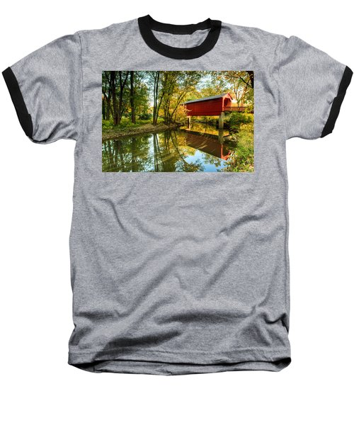 Sugar Creek Covered Bridge Baseball T-Shirt