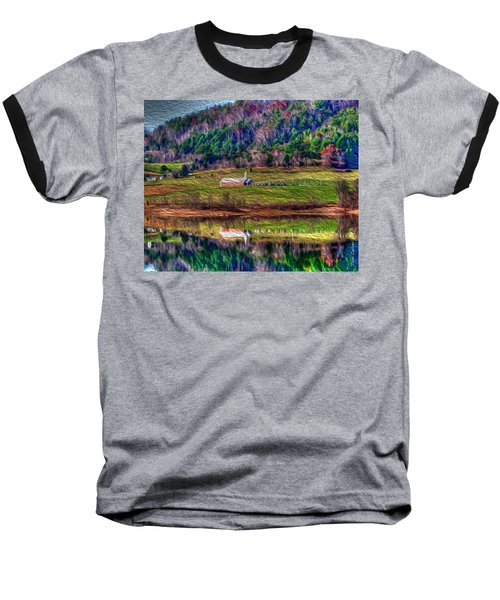 Sugar Grove Reflection Baseball T-Shirt by Tom Culver