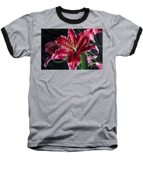 Sumatran Lily Baseball T-Shirt by Dave Files