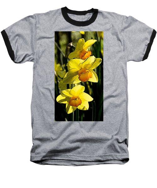 Sumi-e In Yellow Baseball T-Shirt