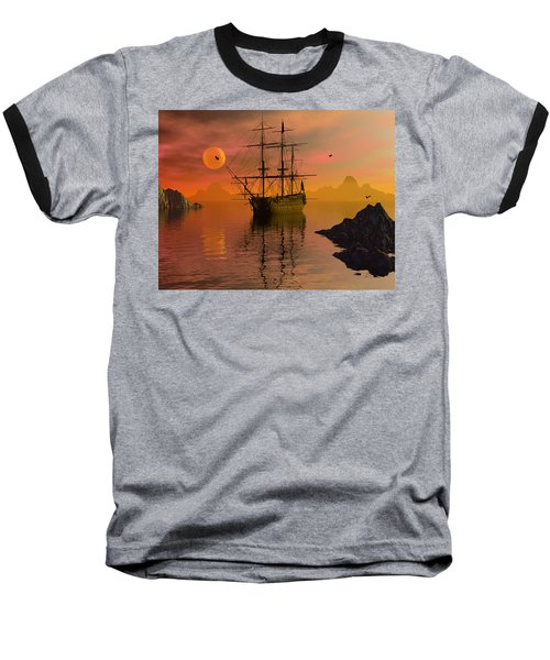 Baseball T-Shirt featuring the digital art Summer Anchorage by Claude McCoy