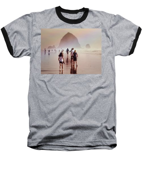 Baseball T-Shirt featuring the photograph Summer At The Seashore  by Micki Findlay