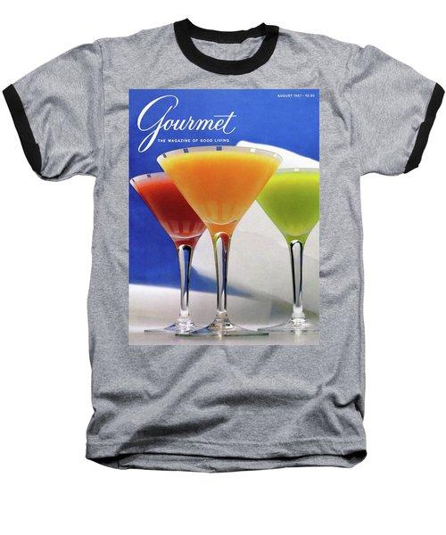 Summer Cocktails Baseball T-Shirt by Romulo Yanes