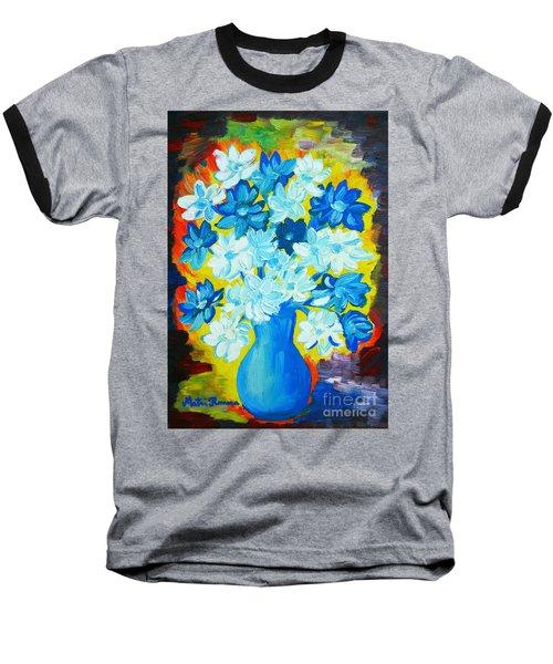 Summer Daisies Baseball T-Shirt by Ramona Matei
