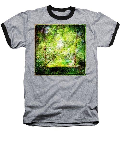 Baseball T-Shirt featuring the mixed media Summer Days Of Yore #1 by Sandy MacGowan
