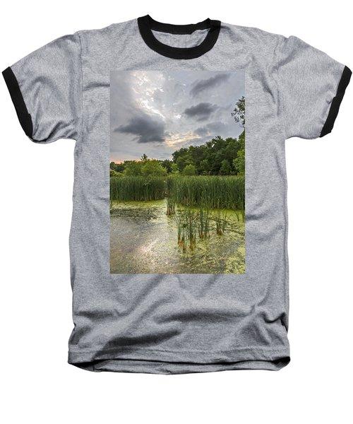Summer Evening Clouds Baseball T-Shirt