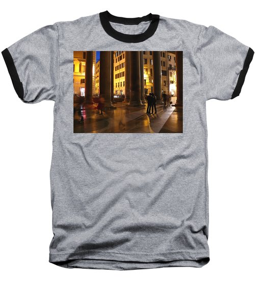 Summer Evening In Rome Baseball T-Shirt by Evelyn Tambour