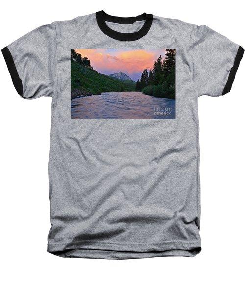 Summer Evening Reflections Baseball T-Shirt