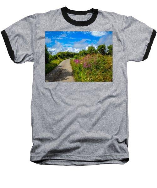 Summer Flowers On Irish Country Road Baseball T-Shirt
