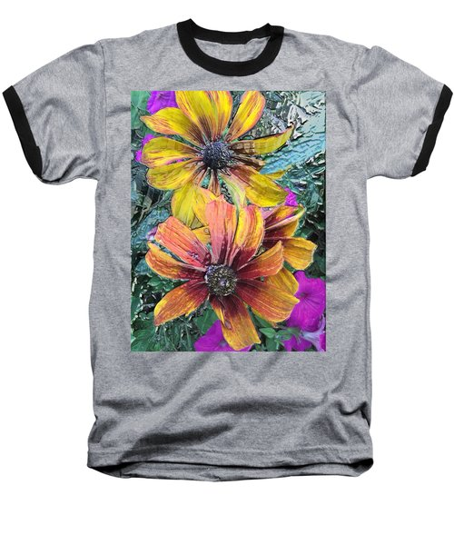 Summer Flowers One Baseball T-Shirt